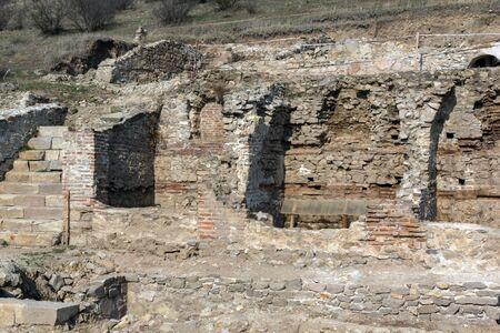 Heraclea Sintica - Ruinen der antiken mazedonischen Polis, in der Nähe der Stadt Petrich, Region Blagoevgrad, Bulgarien Standard-Bild