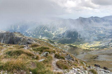 Amazing Landscape from Musala peak, Rila mountain, Bulgaria 스톡 콘텐츠