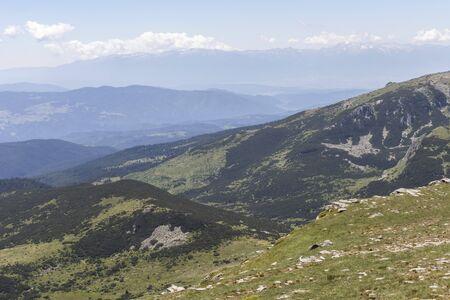 Landscape from hiking trail to Belmeken Peak, Rila mountain, Bulgaria