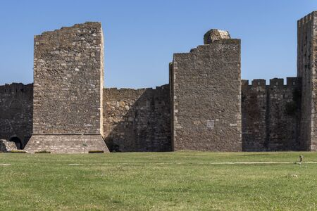 Ruins of Smederevo Fortress at the coast of the Danube River -  in town of Smederevo, Serbia 写真素材