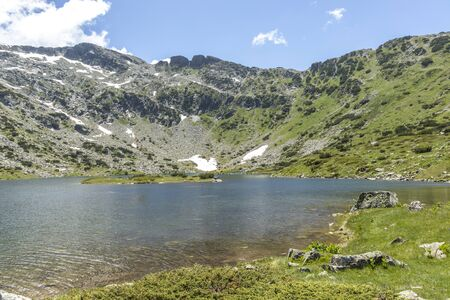 Summer view of The Fish Lakes (Ribni Ezera), Rila mountain, Bulgaria