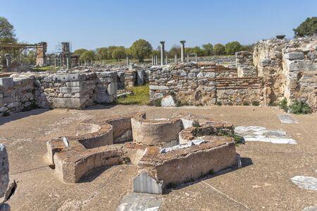 Ruines antiques au site archéologique de Philippes, Macédoine orientale et Thrace, Grèce Banque d'images