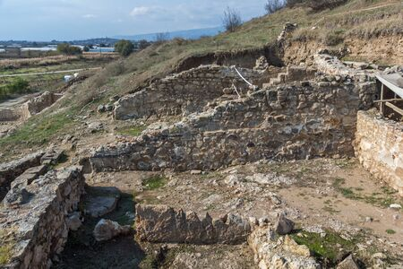 Archaeological site of Heraclea Sintica located near town of Petrich, Blagoevgrad Region, Bulgaria