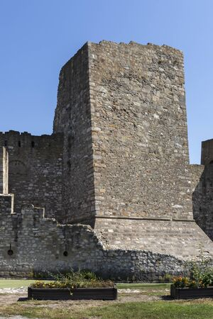 Ruins of Fortress at the coast of the Danube River in town of Smederevo, Serbia