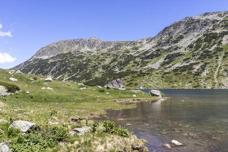 Panorama of The Fish Lakes (Ribni Ezera), Rila mountain, Bulgaria
