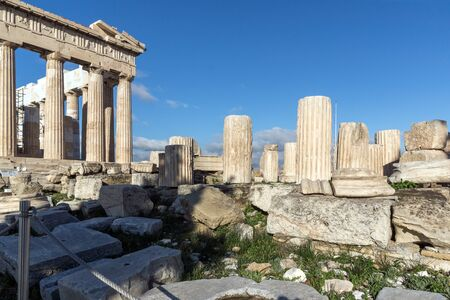 Ruins of The Parthenon in the Acropolis of Athens, Attica, Greece