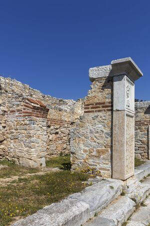 Ancient Ruins at archaeological area of Philippi, Eastern Macedonia and Thrace, Greece