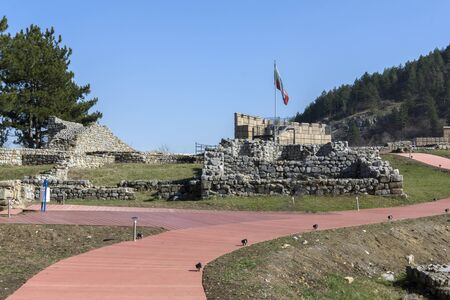 Ruins of the medieval Krakra fortress near town of Pernik, Bulgaria