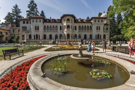 SOFIA, BULGARIA -SEPTEMBER 17, 2017: Building of former Royal Palace Vrana in city of Sofia, Bulgaria