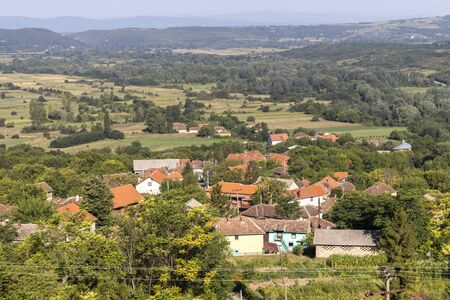 Panorama from Monastery to village of Lesje near town of Paracin, Sumadija and Western Serbia