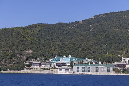 Russian Saint Panteleimon Monastery at Mount Athos in Autonomous Monastic State of the Holy Mountain, Chalkidiki, Greece