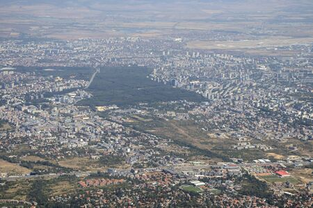 Panoramic view of city of Sofia from Kamen Del Peak at Vitosha Mountain, Bulgaria Reklamní fotografie