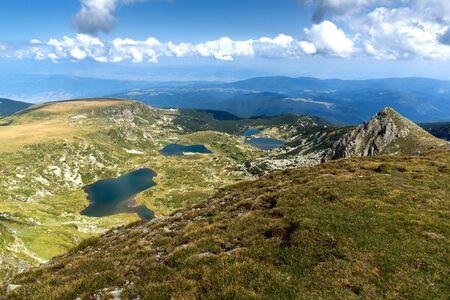 Panoramic landscape of The Seven Rila Lakes, Rila Mountain, Bulgaria Standard-Bild