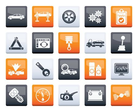 car services and transportation icons over color background - vector icon set