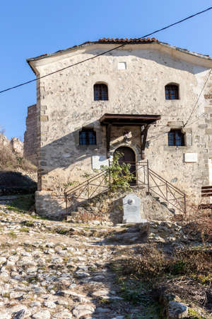 MELNIK, BULGARIA - DECEMBER 31, 2019: Medieval Saint Anthony church in town of Melnik, Blagoevgrad region, Bulgaria 報道画像