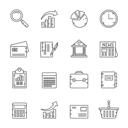 Line Business and Office Internet Icons - Vector Icon Set