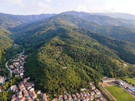Aerial view of town of Petrich, Blagoevgrad region, Bulgaria