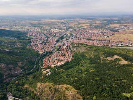 Aerial view of town of Asenovgrad,  Plovdiv Region, Bulgaria 写真素材