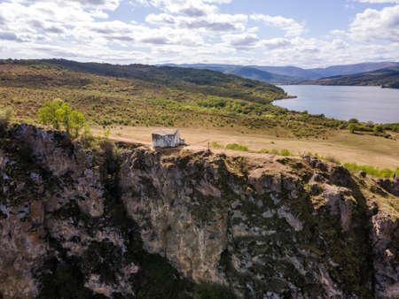 Aerial view of Pchelina Reservoir, Pernik Region, Bulgaria