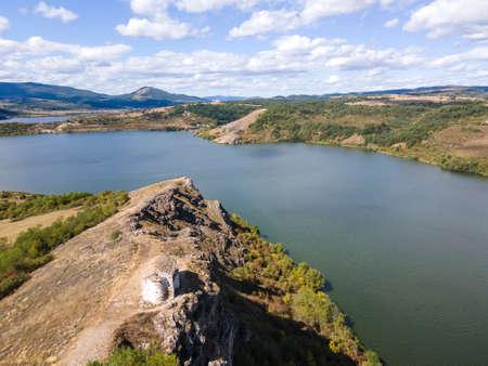 Aerial view of Pchelina Reservoir, Pernik Region, Bulgaria Stock Photo