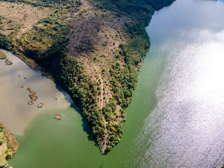 Amazing Aerial view of Pchelina Reservoir, Pernik Region, Bulgaria