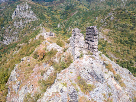 Aerial view of ruins of Anevsko kale Fortress near town of Sopot, Plovdiv Region, Bulgaria 写真素材