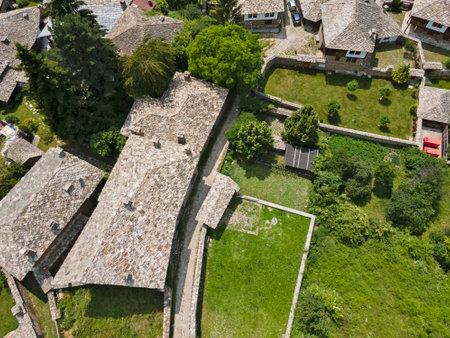Aerial view of Village of Kovachevitsa with Authentic nineteenth century houses, Blagoevgrad Region, Bulgaria 報道画像