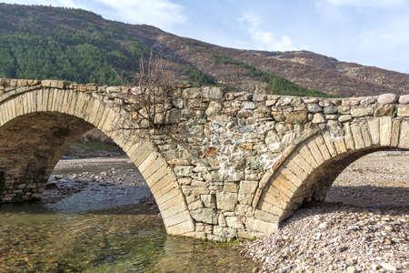 Ancient Roman bridge near village of Nenkovo at Rhodope Mountains, Kardzhali Region, Bulgaria