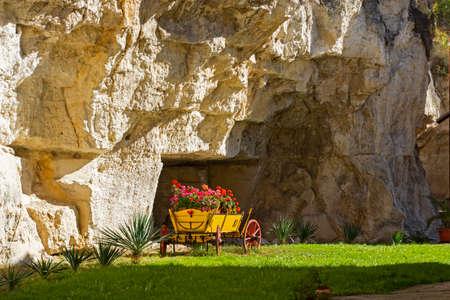 Medieval Basarbovo Rock Monastery dedicated to Saint Dimitar Basarbowski, Ruse Region, Bulgaria