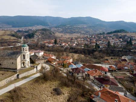 Aerial view of Village of Hvoyna, Smolyan Region, Bulgaria