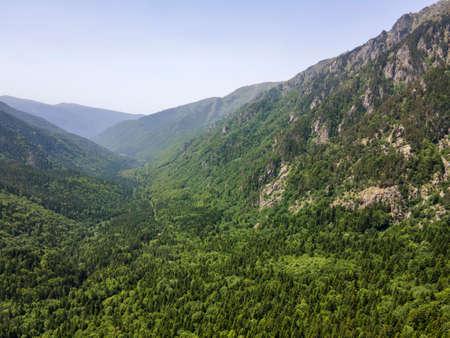 Aerial view of Rila Mountain near Kirilova Polyana (Cyril meadow), Kyustendil region, Bulgaria Stock Photo