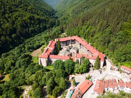 Amazing Aerial view of Rila Monastery, Kyustendil Region, Bulgaria
