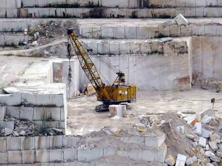 open pit: Extraction of a marble   Stock Photo