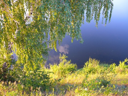 Evening in Uvelka River - Chelyabinsk area Stock Photo