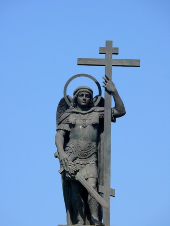 michael the archangel: Monument of Michael Archangel in the center of Sochi Stock Photo