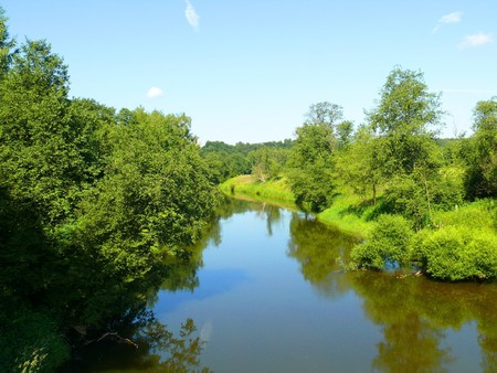 Summer landscape with river photo