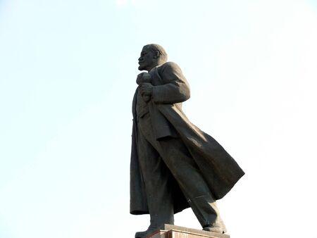 lenin: Monument of Lenin Stock Photo