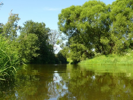 summer landscape with river Stock Photo - 7916220