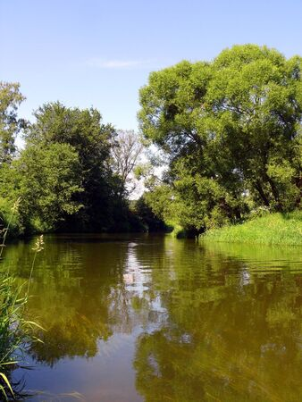 summer landscape with river Stock Photo - 7916226