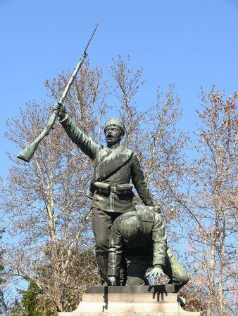 Monument for Serbian-Bulgarian war in center of Pleven, Bulgaria Stock Photo