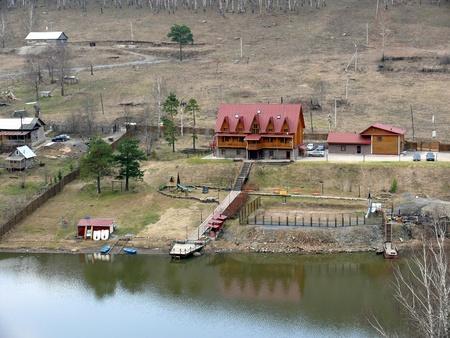 Porogi, Russia - May 03, 2010: Spring day. Territory of three stars hotel Porogi on May 03, 2010 in Porogi Village, Chelyabisnk area, Russia