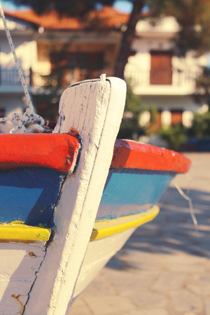 Colored boat Stock Photo