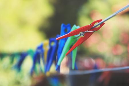 clothespins: Clothespins bokeh