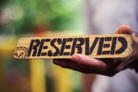 reserved: Reserved sign