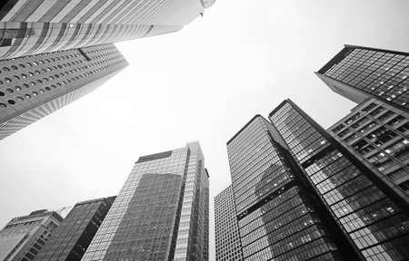 De desarrollo de negocios de alto en la ciudad Foto de archivo