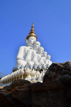 lord buddha: 5 Lord Buddha on a clear day. Stock Photo