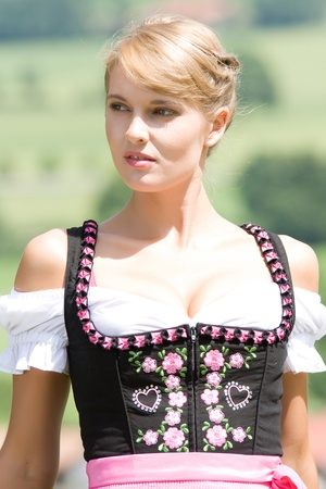 Portrait of a young Bavarian wom photo