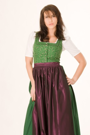 portait of a Bavarian girl in costume photo