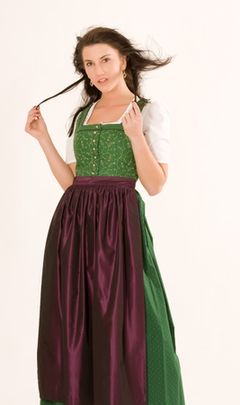 portait of a Bavarian girl in costume Stock Photo - 11412702