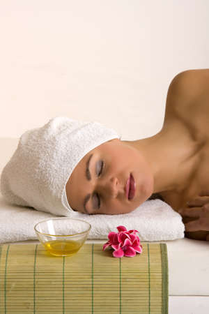 young woman relaxing in the beauty farm Stock Photo - 11412831